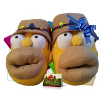 25-29 Homero Simpson Pantuflas Cabeza 3d Pescador Cynld