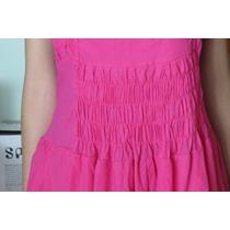 Vestido 100% Algodón Fucsia El Color De Moda! Unico! Miralo!