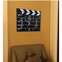 Regalo Original! Reloj De Pared Claqueta De Director De Cine
