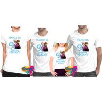 Kit 4 Pçs Camisa Personalizada Para Festa Qualquer Tema A4