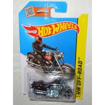 Hot Wheels Harley Davidson Fat Boy Moto Negra