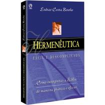 Hermenêutica Fácil E Descomplicada Livro Cpad