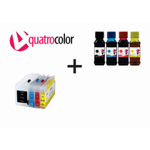Cartuchos Recarregáveis Hp Pro 8100 8600 + Tinta Pigmentada