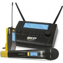 Microfone Sem Fio Mão E Transmissor Uhf Multiset Iii Skp