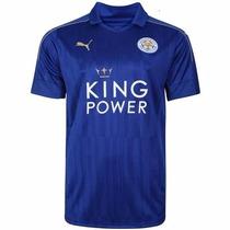 Jersey Puma Leicester City Local Visita 2016 17 Env. Gratis