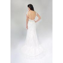Vestido Noiva Longo Renda Aberto Apliques Florais Lindooooo