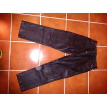 Pantalon De Cuero Negro Bien Grueso