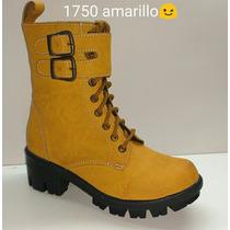 Bota Militar 1750 Alta Amarillo Tipo H&m Bershka Zara Pull