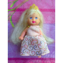 Hija Bebita De Barbie Vestida De Princesa Y Con Pelo