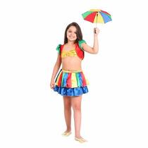Fantasia Frevo Feminino M (6 A 8 Anos)