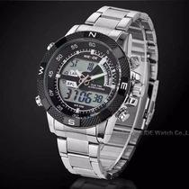 Relógio Pulso Weide Sports Led Digital E Analógico Wh-1104-4