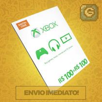 Microsoft Gift Card Cartão Xbox R$200 (r$100+r$100) Reais