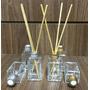 Kit Difusor Aromatizador Quadrado 30 Ml - Vidro - 10 Unds