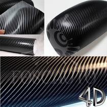 Adesivo Envelopamento Tuning Fibra Carbono 4d - 1m X 25cm