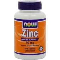 Tabletas Now Foods Gluconato De Zinc 50mg (750 Tabletas)