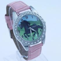Hermoso Reloj Con Caballo