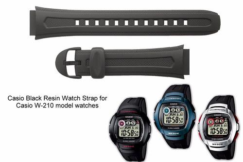 2dcaf642715 Malla Para Reloj Casio W-210 Agente Oficial -   330