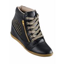 Calçado| Tenis| Bota Sneaker Detalhe Com Tachas Preto