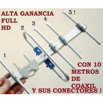En Mataderos Kit C10m Coaxil Digital Tda Publica Futbol Hd !