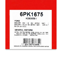Correia De Acessórios A6 / Escort / S-10 - Gates 6pk1675