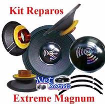 02 Kit Reparo Auto Falante Magnum Rex 18 600 Rms - 8 Ohms