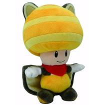 Peluche Original Hongo Toad Ardilla Voladora Super Mario 23c