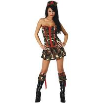 Haloween - Fantasia Enfermeira Camuflada Militar Sexy Corpet