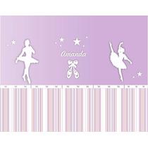 Painel Decorativo Para Quarto Infantil Bailarinas Pintado