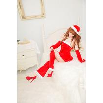 Disfraz Mujer Santa Claus Sexy Baby Doll Lencería Navidad