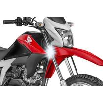 Farol Auxiliar Milha Led Moto Honda Nxr 125 150 160 Bros