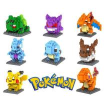 Pokemon - Set De 8 Figuras Mini Blocks Lego Mewtwo,charizard