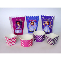 Princesa Sofía Bautizo Cumpleaños Cajitas Cupcake Dulceros