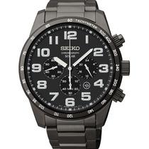 Relógio Seiko Ssc231 Solar Sport Cronografo Black