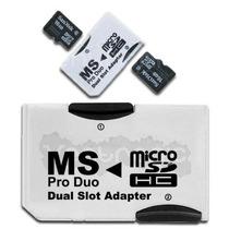 Adaptador Pro Duo Doble Memoria Micro Sd Hc Psp Sony