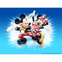 Painel De Festa Infantil 2x1,5 Mickey E Minnie E Outros