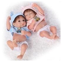 Bebe Reborn Gemelos Niño Y Nina Silicon Sobre Pedido
