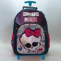 Mochila Monster High Con Carro 16 Pulgadas Dm509
