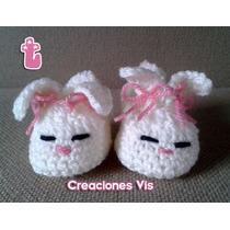 Hermosos Zapatitos De Conejito Bebé Tejidos A Mano Crochet