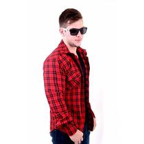 Camisa Xadrez Flanelada, Vermelha E Preta * Frete Grátis*