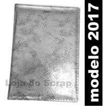 Agenda Prata Metalica Aluminio - Diaria 14x20 Capa Costurada
