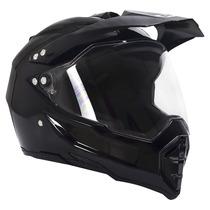 Casco Doble Propósito R7 128 Negro Brillante Talla L