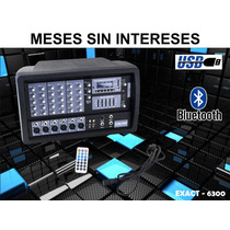 Steelpro Mezcladora Amplificada 6ch,200w Rms,bluetooth,usb.
