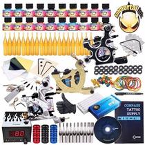 Kit De Tatuar Complete Tattoo Kit 3 Machine Gun 20 Color Ink
