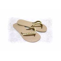 Chinelos/sandálias Havaianas Decoradas 35/36 Moda Verão2017