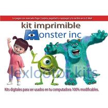 Kit Imprimible Invitaciones Monster Inc Boo Cotillon Golosin