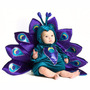 Fantasia Infantil Bebê Pavão Selva Safari - 06 A 12 Meses