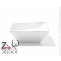 Bowl Cuadrado De Porcelana Blanca