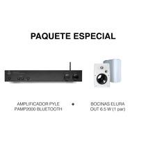Pyle Amplificador Pamp2000 + Bocinas Elura Out 6.5 W (par)