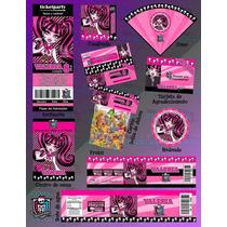 Invitaciones Monster High-draculaura-invitaciones Infantiles