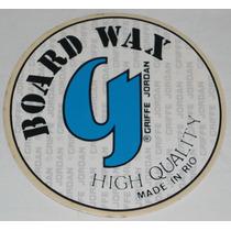 Board Wax Griffe Jordan Adesivo Anos 80 13cm Diâm Surf Wear